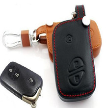 Leather car key cover case for Lexus smart key ES 300h 250 350 IS GS CT200h RX CT200 ES240 GX400 LX570 RX270 remote control case(China (Mainland))
