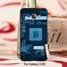 Special Offer Luxury Vertical phone case For case GALAXY J120 Blue Computer Motherboard Pattern(China (Mainland))