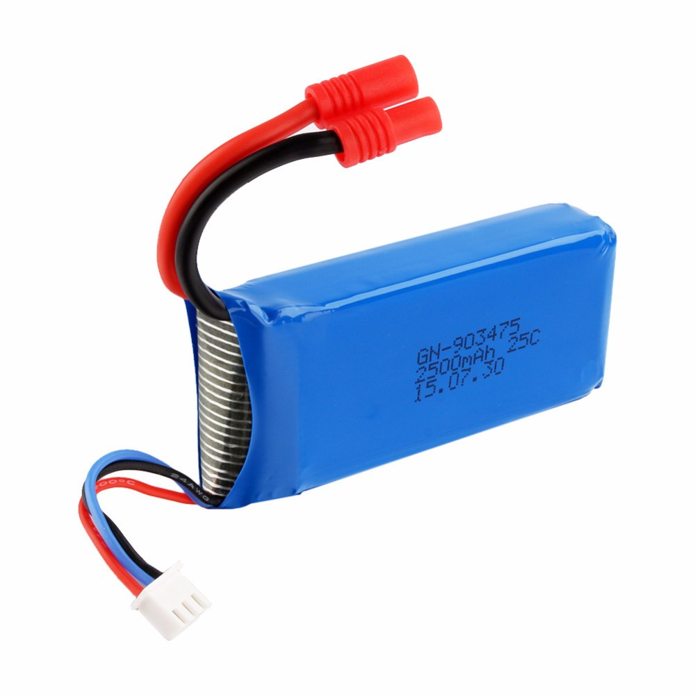Hot syma X8C Charger & 7.4V 2500mAh Li-po 25C battery 4CH 6-Axis Mini RC Drone Helicopter free shipping
