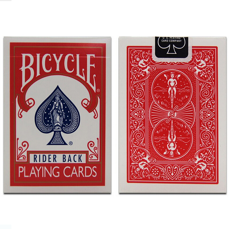 Bicycle Cards Magic Trick Red Or Blue Magic Cards Magic Toys Sealed Deck Of Cards Regular Playing Bicycle Poker Rider Back Decks(China (Mainland))