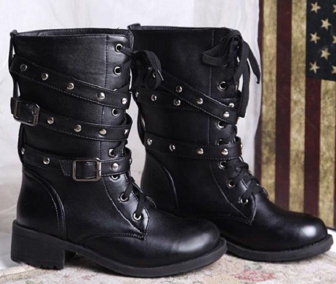 New 2016 Brand Lovers Martin boots Round toe High Fashion Black Shoes Women motorcycle boots Plus size 40,41,42(China (Mainland))