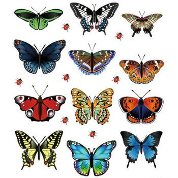 Mosunx Business New Landscaping Decoration Heart Shaped Stickers 12 Butterfly Stickers