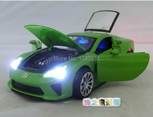 free shipping 2014 1:28  LE XUS Pull Back Acousto-optic Toys Classic Alloy racing Cars Model Wholesale children  toy cars(China (Mainland))