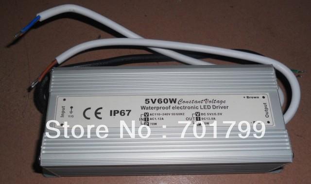 5v/60w switch mode IP68 LED power supply;AC110-240V input