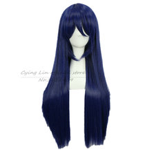 Love Live ! LoveLive! Sonoda Umi Cosplay Wigs Mixed Blue Hair Straight Long 80cm Anime Cos Wig(China (Mainland))