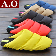 New 2015 Winter Warm Down Indoor Slippers Couple Home Slippers Pantufa Cotton-Padded Pantufas De Pelucia Terlik Men Women(China (Mainland))