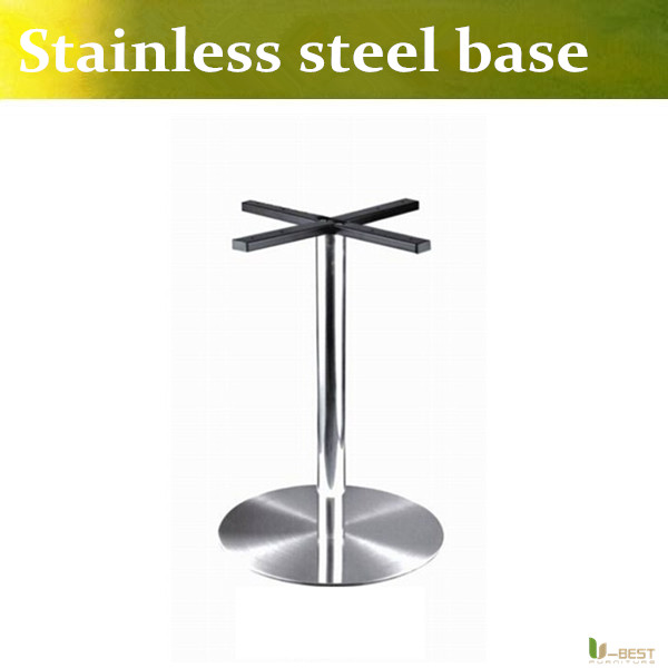 U-BEST Negotiate table legs chassis,Stainless Steel Round Table Base XL Circular Stainless Steel Table Base(China (Mainland))
