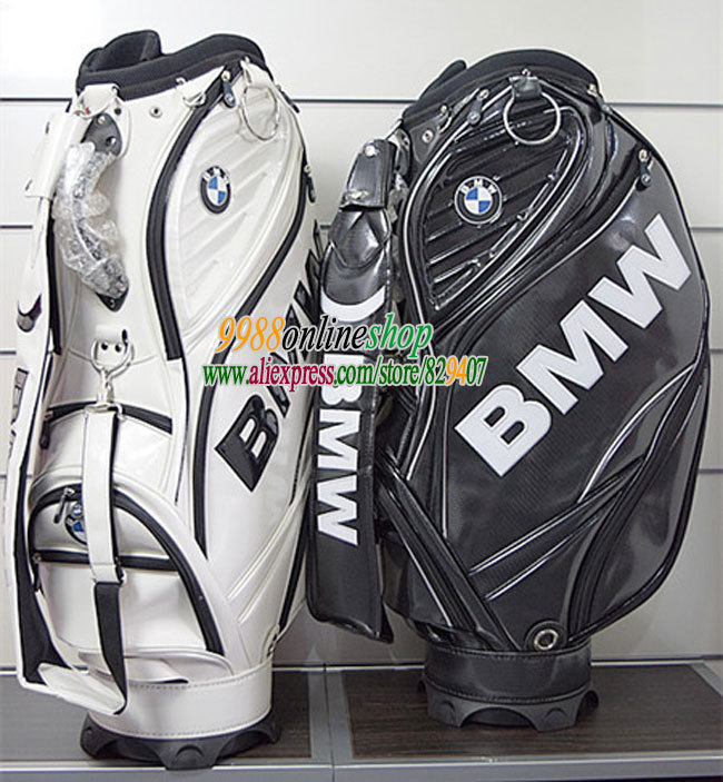 New  golf bag top quality PU golf staff bag with 3 colors Golf cart bag with bag cover golf equipment Freeshipping