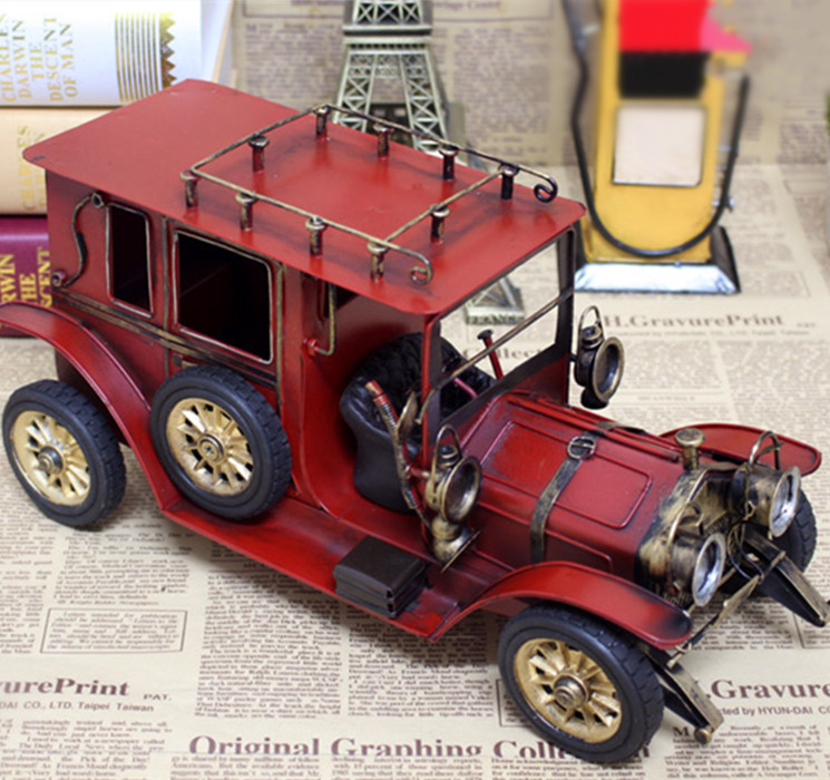 European Antique Traving Motor Home Iron Bubble Car Model Gifts(China (Mainland))