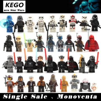 NEW Single Sale  Star Wars Minifigures  Yoda Darth Revan Obi Wan Han Solo Clones Sith Classic building blocks toys Children Gift