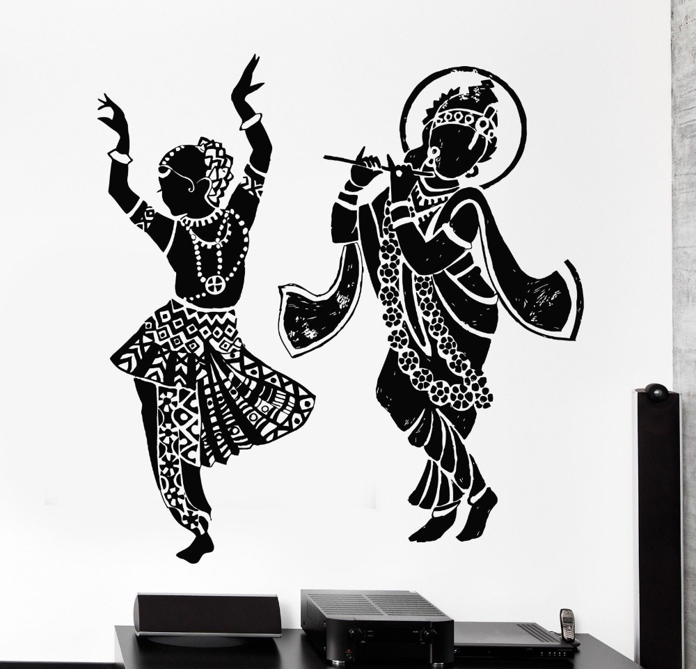 Buddha Dance Indian Hinduism Wall Sticker Home Decor Wall Decal Elephant Ganesh Buddhism India Indian Namaste Buddha Om Yoga God