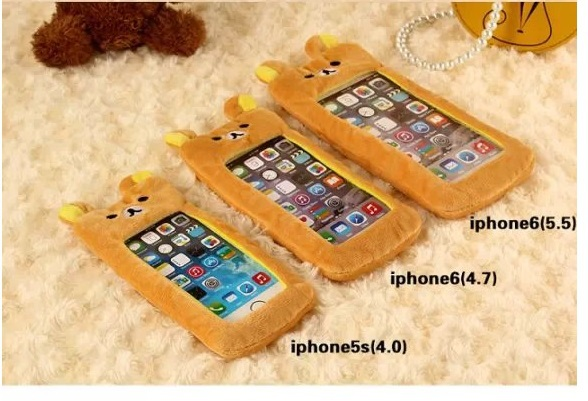 Popular Cute Artificial Fur Plush Mink Animals Soft Phone Case iPhone 5 5S 5C 6 Plus Bear Cat Mouse Duck Lovely Capa - Live In Grace store