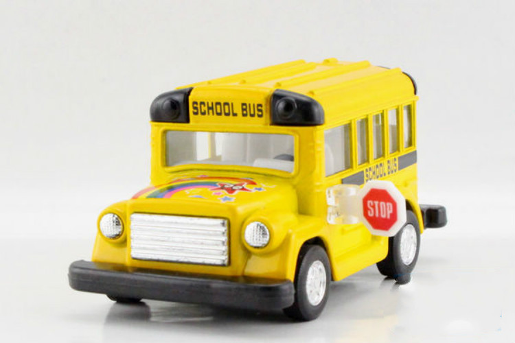 Alloy Cartoon Kid School Bus Scale Model Die cast Bus Toys Pull Back Boys Toys Best Gift Collection(China (Mainland))