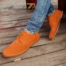 Minimalist Design Genuine Suede Leather Mens Leisure Flat BIMUDUIYU Brand Spring Formal Casual Dress Flat Oxford Shoes Hot Sale(China (Mainland))