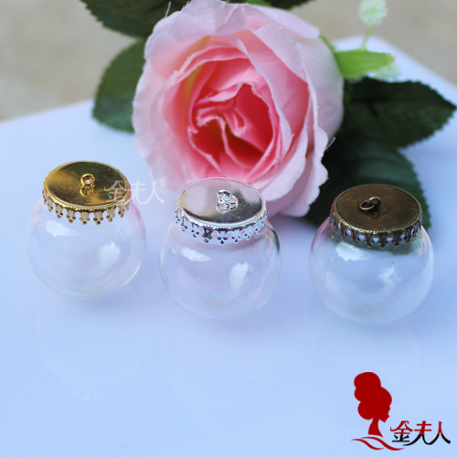 Handmade diy accessories wishing bottle 20mm glass cover trays(China (Mainland))
