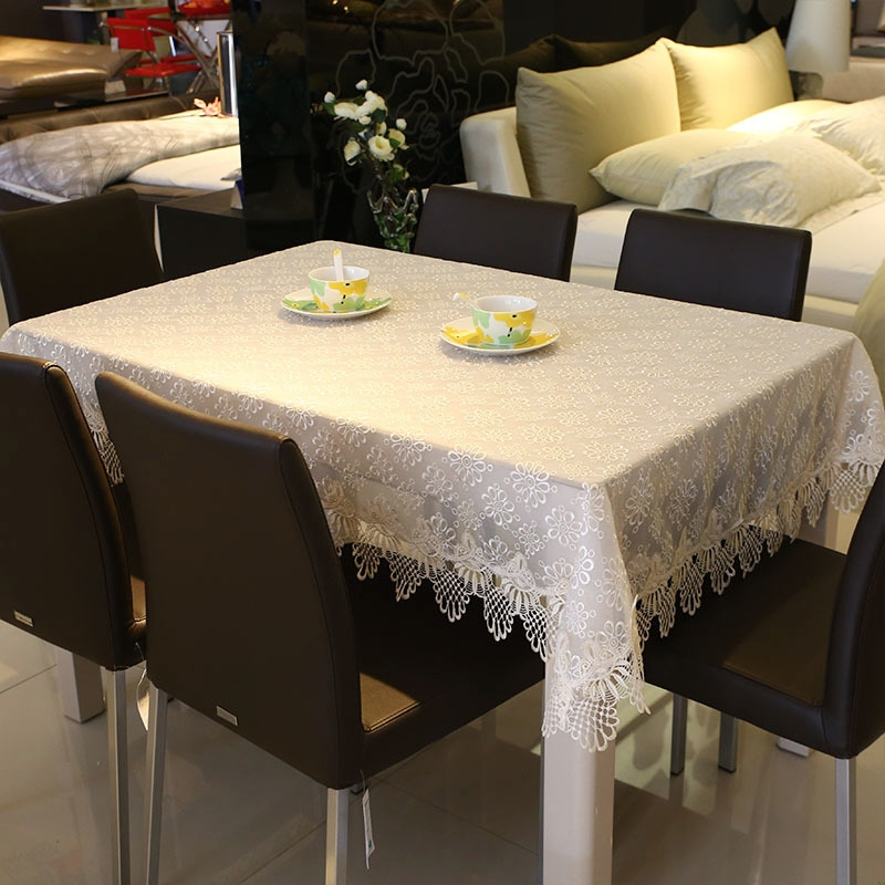 2015 New Hot Luxury Full Lace Floral Tablecloth Elegant Beige Lace Table Cloth Overlays Home Towel Textiles 2128(China (Mainland))
