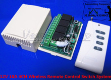 Расстояние 1000 м DC 12 В 10A 4CH беспроводной пульт дистанционного управления системы умный дом контроллер рф тумблер 433MHZ315MHZ