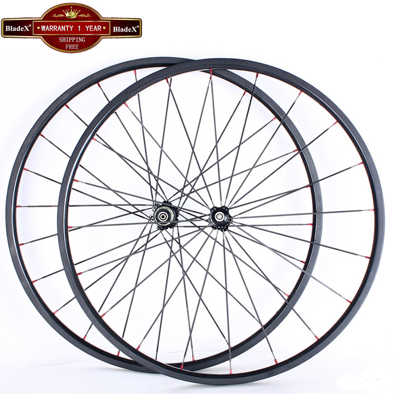 BladeX Carbon Wheels 24mm Clincher Width 23/25mm 700C Road Bike Carbon Wheelset 24mm Carbon Clincher Wheelset Bicycle Wheel(China (Mainland))