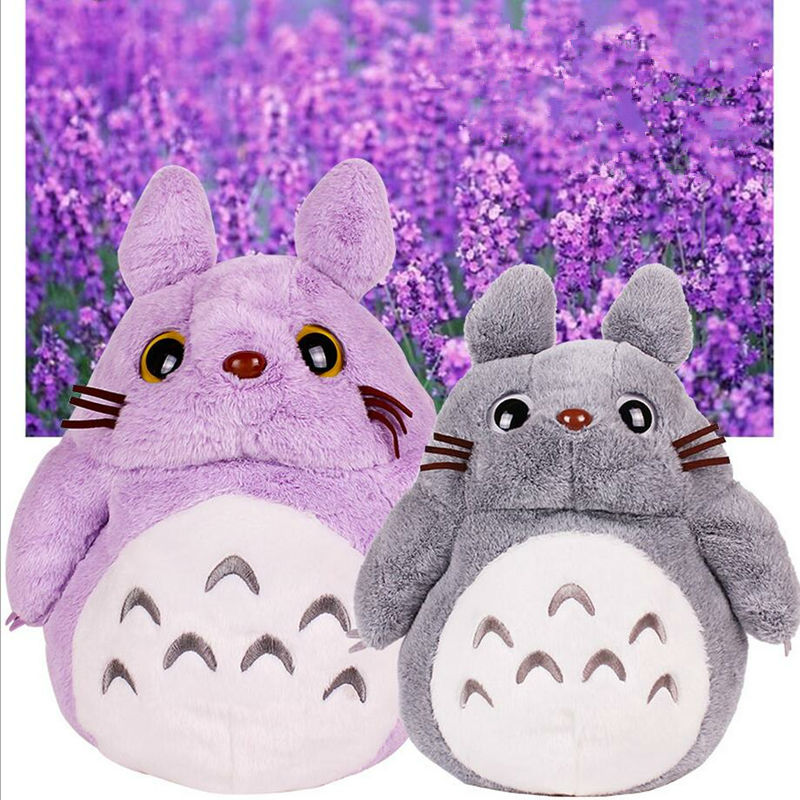 New Arrival Cute Anime Gray&Purple My Neighbor Totoro Soft Plush Toys Cartoon Lavender Totoro Stuffed Hand Warmers Retail(China (Mainland))