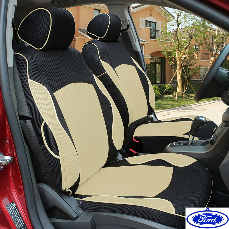 special car seat cover for ford mondeo focus fiesta edge explorer taurus s max dedicated black. Black Bedroom Furniture Sets. Home Design Ideas
