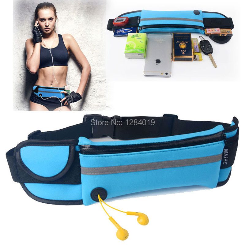 Outdoor Sports Waist Packs Bags for LG K10 LTE K420N case Running Sport Waistband wallet Phone case small Travel Belt Bag(China (Mainland))