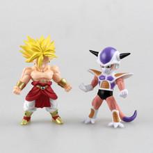 Dragon Ball Z Q Super Saiyan Broli Frieza PVC Action Figures Toys 2pcs/1set 9CM Anime Collection Toy