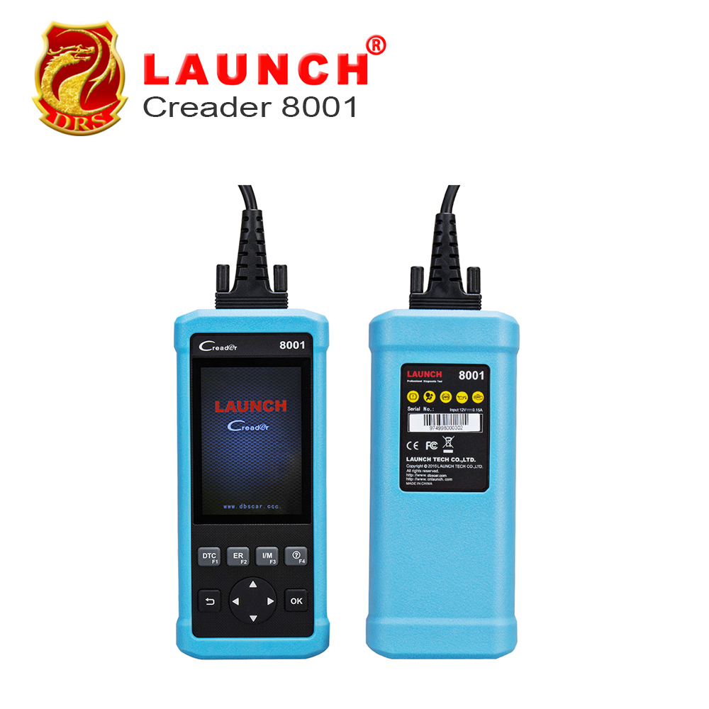100% Original Launch DIY Code Reader CReader 8001 Full OBD2 Scanner/Scan Tool with Oil/EPB Reset Service ENG/AT/ABS/SRS CR8001(China (Mainland))