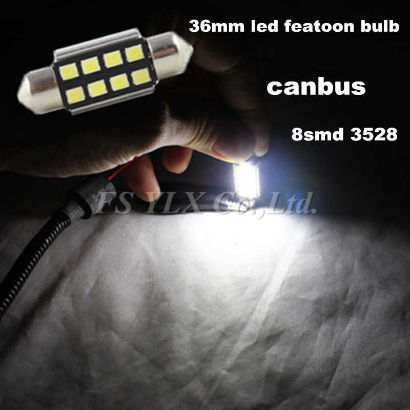 50pcs/lot 36mm CANBUS Error Free 8 LED 3528 SMD 6418 C5W License Plate White Dome Festoon Light Bulb Free shipping<br><br>Aliexpress