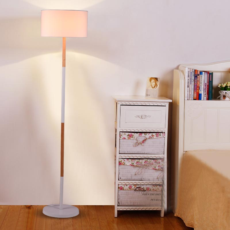 Modern Standing Lamps For Living Room Loft Floor Lamps Kids Long Floor Stand Lamp Chrome Cloth Fabric Floor Lights E27 110-240V(China (Mainland))