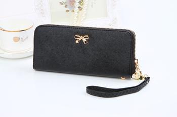 Женщины корейский милый дутый портмоне сплошной переносной бумажник сумочка кожа ...
