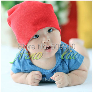 Retail Solid color Cotton Cute Baby Beanie Hat for Boy&Girl Newborn Infant Caps Skull Cap Toddler Beanies 1pc BH-1082(China (Mainland))
