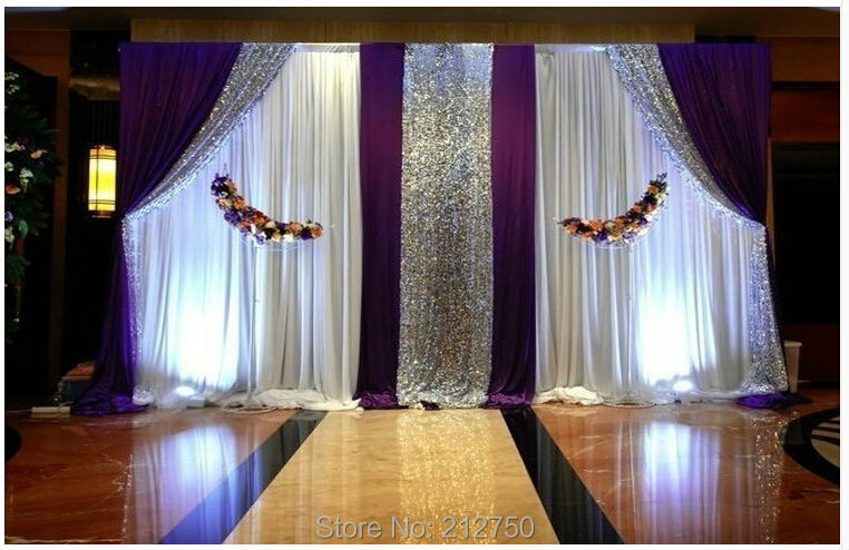 Buy express free shipping white purple for Background curtain decoration