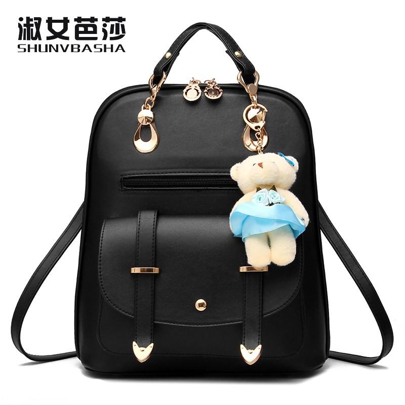 SNBS 100% Genuine leather Women backpack 2016 New Fashion style shoulder bag leisure backpack female Korean shoulder bag(China (Mainland))