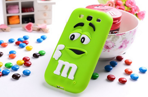 Cute 3D Cartoon M&M Chocolate Candy model soft silicon Back Cover protection phone case for Samsung Galaxy E7(China (Mainland))