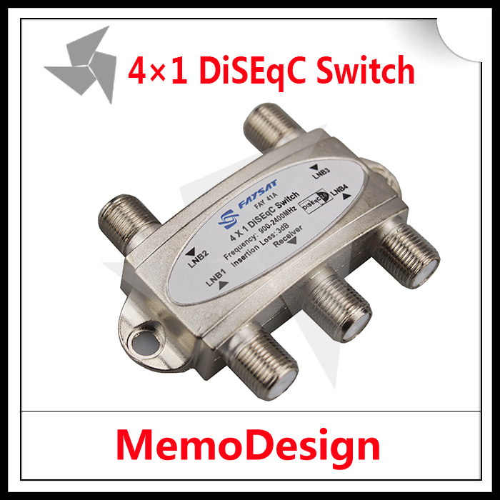 Original Faysat DiSEqC Switch 4x1 DiSEqC Switch satellite antenna flat LNB Switch for TV Receiver with high quality Freeshipping(China (Mainland))