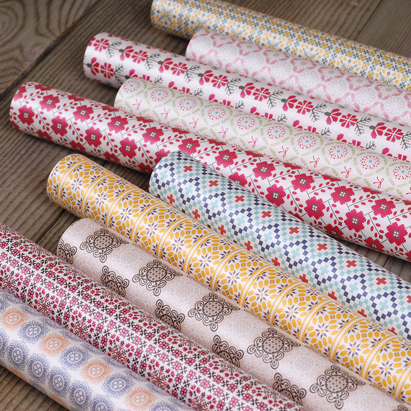 25 sheets of 75 X 49cm Waterproof Christmas Wrapping Paper,10 Designs Geometric Holiday Gift Wrapping Paper Wholesale(China (Mainland))