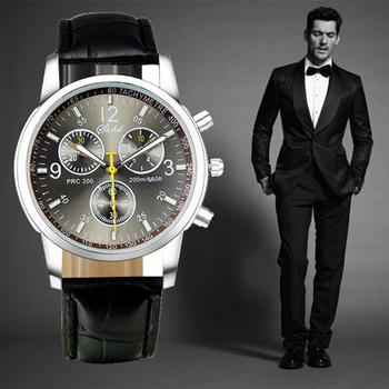 2015 новый кварцевые мужские часы мода и свободного покроя роскошные кожаные часы элегантный спортивный из двери наручные часы оптовая продажа relojio горячая распродажа