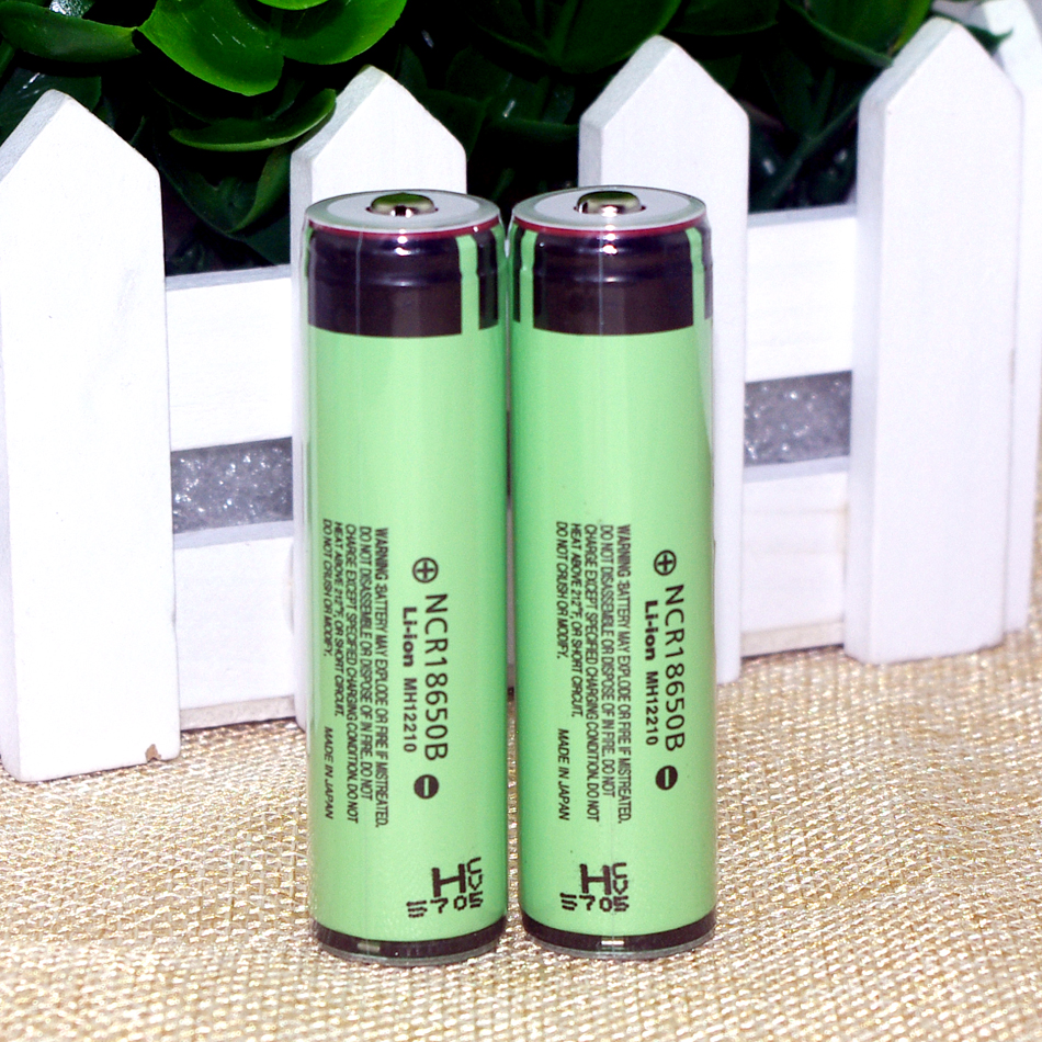 2015 2PCS Original For Panasonic 18650 3.7V 3400mAh battery electronic cigarette battery NCR18650B Lthium more protective plate(China (Mainland))