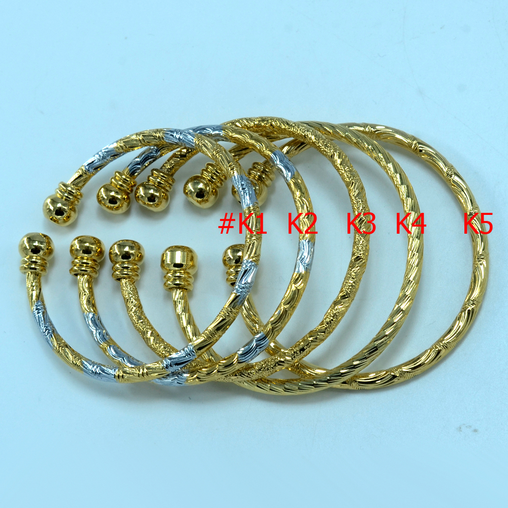 each US$2.89 / kids bracelet 18k gold plated child jewelry wholesale bangle GP fashipn baby bangles,CAN MIXED ORDER(China (Mainland))