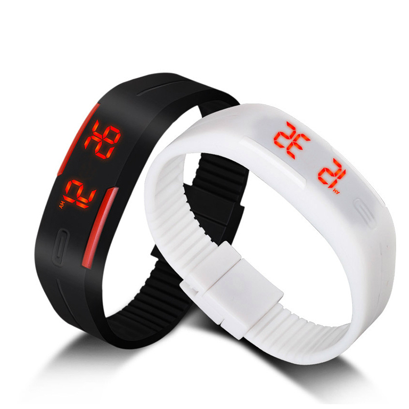 2015 New Fashion Touch Screen LED Bracelet Digital Watches For Men Ladies Child Clock Womens Wrist