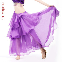 2014 New High Dancers spiral skirt chiffon cake skirt belly dance Costumes Suit costume women doing exercises Dancewear 11 color