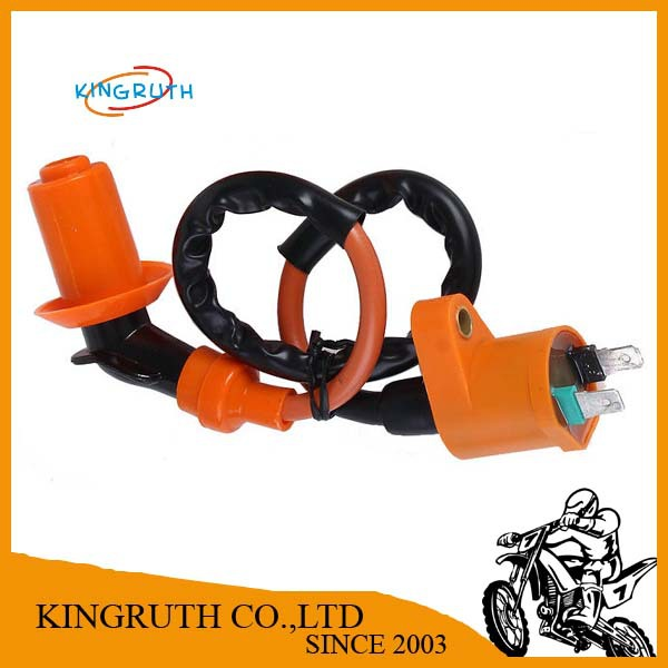 Free Shipping High Performance Orange Racing Ignition Coil For GY6 50cc 125cc 150cc Moped Scooter Go Kart ATV Quads(China (Mainland))