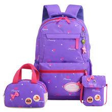 Children School Bags 3 set Girls Orthopedic printing Backpack Kids princess school backpack Mochila Infantil Primary schoolbags(China)
