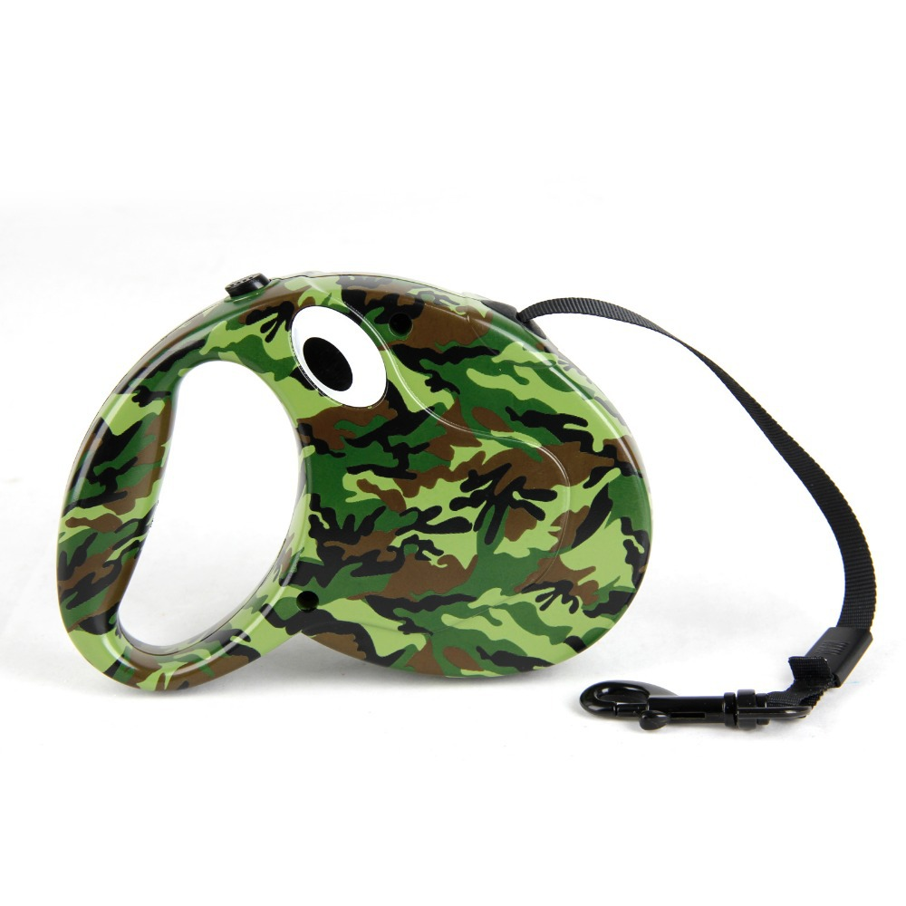 Freeshipping Retractable Auto Dog Leash Camouflage Color Pet Leashes Puppy Dog Cat Leash 3M Pet Chain Less Supplies(China (Mainland))