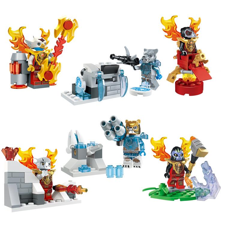 2016 NEW LELE Chimas 6 lots Minifigures Building Blocks Bricks Toys Action Figures Compatible Legoes Animal War - Hot Toy Story store