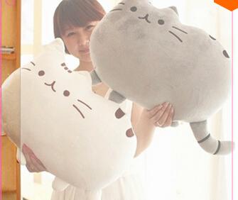 40*30cm Animal toy Pusheen Cat For Girl   Kawaii Cute Cushion Brinquedos Plush Toys Stuffed Animal Doll Talking  Free Shipping(China (Mainland))