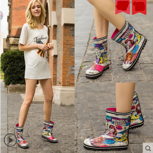 Buy Rain barrel spring fashion fairy cute rain boots women ladies