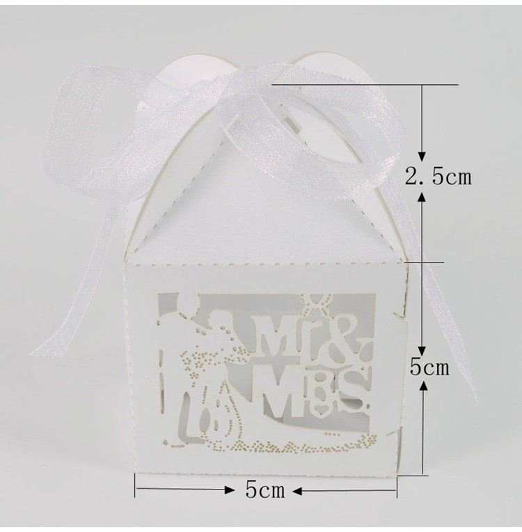 Wholesale FENGRISE Mr Mrs Wedding Candy Box Sweets Gift
