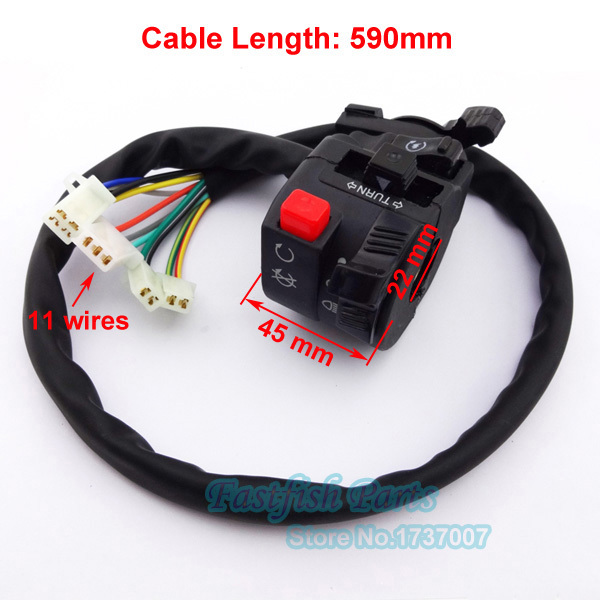 11 Wires ATV Handle Switch Control With Choke Lever For Chinese 50cc 110cc 125cc 150cc 200cc 250cc Quad Motorcycle(China (Mainland))