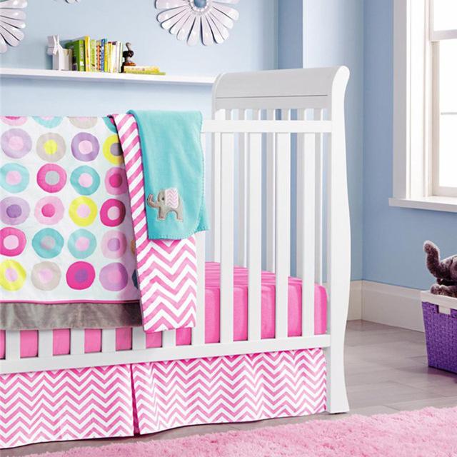 10 шт. детские кроватки постельных принадлежностей для девочек мультфильм розовый ...